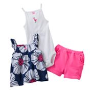 Carter's Flamingo Shorts Set - Baby