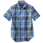 Chaps Plaid Woven Button-Down Shirt - Boys 8-20
