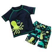 Carter's Octopus Swim Top and Swim Trunks Set - Baby
