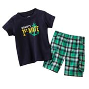 Carter's First Mate Tee and Plaid Shorts Set - Baby
