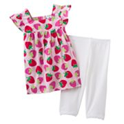 Carter's Strawberry Top and Leggings Set - Baby