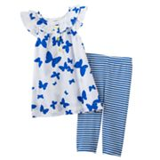 Carter's Butterfly Top and Striped Leggings Set - Baby