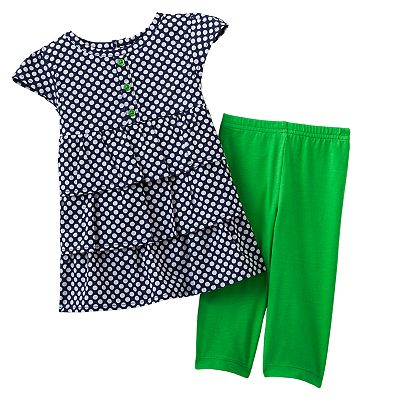 Carter's Polka-Dot Tiered Top and Leggings Set - Baby