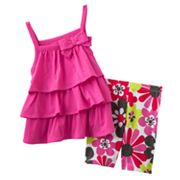 Carter's Tiered Top and Floral Shorts Set - Baby