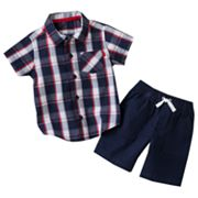 Carter's Plaid Shirt and Shorts Set - Baby