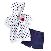 Carter's Polka-Dot Hooded Cardigan and Shorts Set - Baby