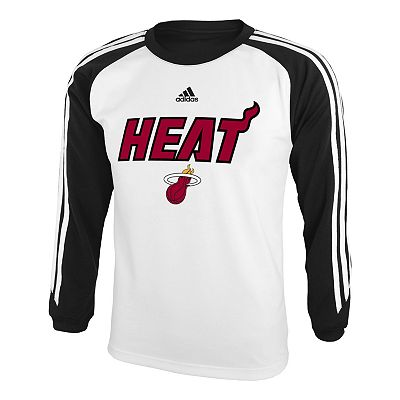 adidas Miami Heat Speedwick Performance Tee - Boys 8-20