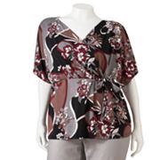 Jennifer Lopez Kimono Empire Top - Women's Plus
