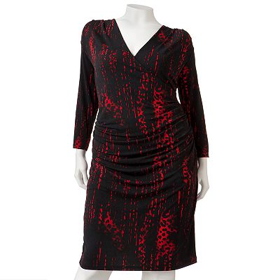 Jennifer Lopez Animal Surplice Dress - Women's Plus