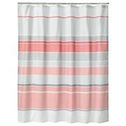 Apt. 9 Contrast Striped Fabric Shower Curtain