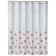 Apt. 9 Contrast Floral Fabric Shower Curtain