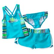 ZeroXposur Shoreline 3-pc. Tankini Set - Girls 4-6x