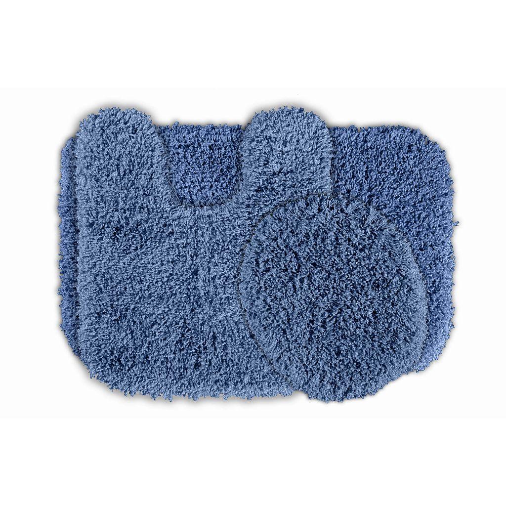 Garland Shag Nylon 3-pc. Bath Rug Set