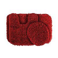 Garland Shag Nylon 3 pc Bath Rug Set