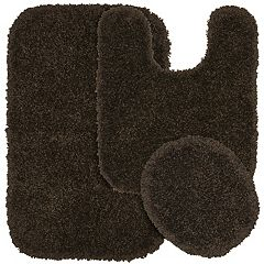 Garland Shag Nylon 3-pc. Bath Rug Set
