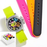 Silver Tone Frog Interchangeable Watch Set - Kids