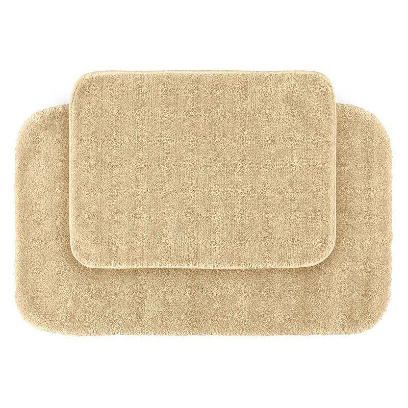 Garland Deco Plush 2-pc. Bath Rug Set, Beig/Green (Beig