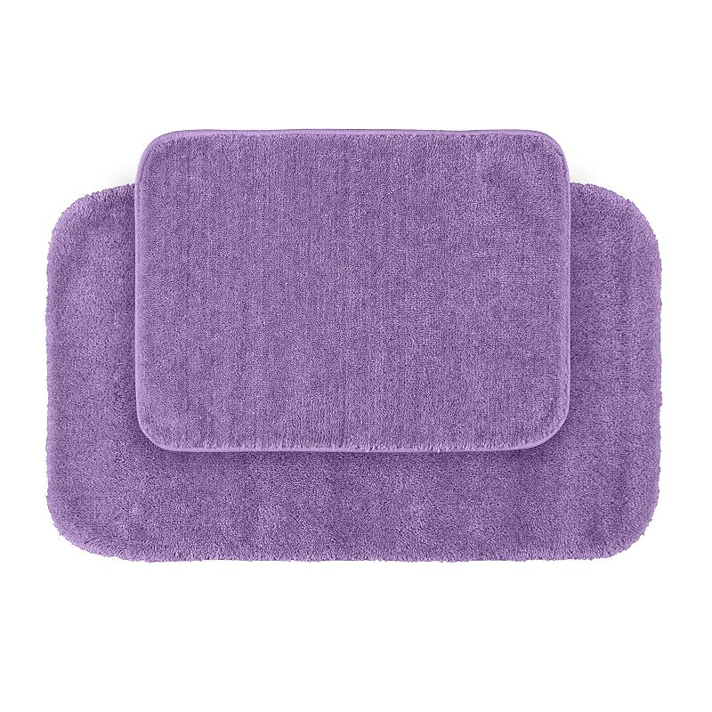 Garland Deco Plush 2-pc. Bath Rug Set, Purple