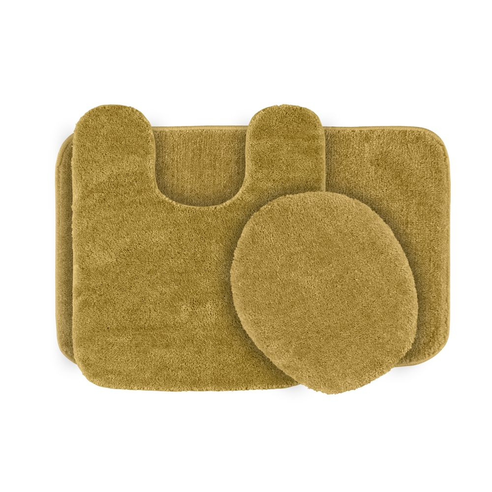 deco plush 3-pc. bath rug set