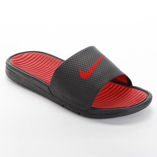 74bec4cbd Nike Benassi Solarsoft Slide Sandals - Grade School Boys