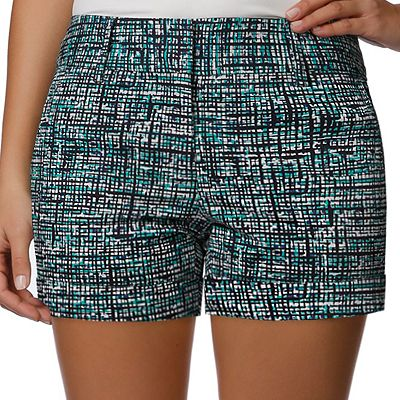 daisy fuentes Crosshatch Cuffed Shorts