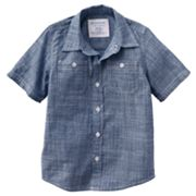 SONOMA life + style Chambray Woven Button-Down Shirt - Boys 4-7x