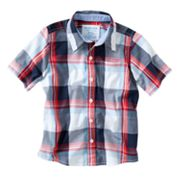 SONOMA life + style Plaid Poplin Button-Down Shirt - Boys 4-7x