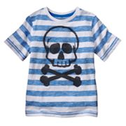 SONOMA life + style Skull and Cross Bones Striped Tee - Boys 4-7