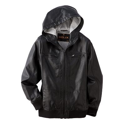 Helix Pleather Jacket - Boys 8-20