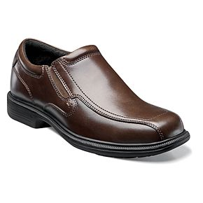 Nunn Bush Bleeker St. KORE Men?s Bicycle Toe Dress Slip-On Shoes