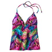 Candie's Palm Leaf Halterkini Top