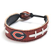 Chicago Bears Leather Football Bracelet