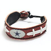 Dallas Cowboys Leather Football Bracelet