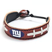 New York Giants Leather Football Bracelet
