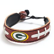 Green Bay Packers Leather Football Bracelet