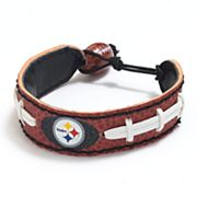 Pittsburgh Steelers Leather Football Bracelet