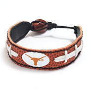 Texas Longhorns Leather Football Bracelet
