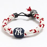 Frozen Rope New York Yankees Leather Baseball Bracelet
