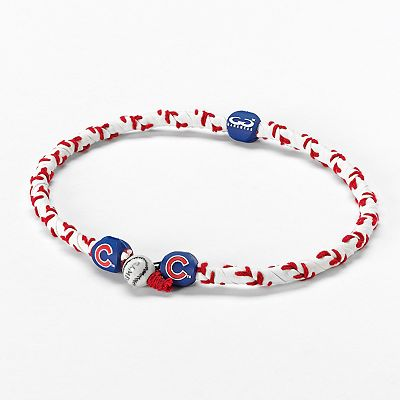 Frozen Rope Chicago Cubs Leather Baseball Necklace