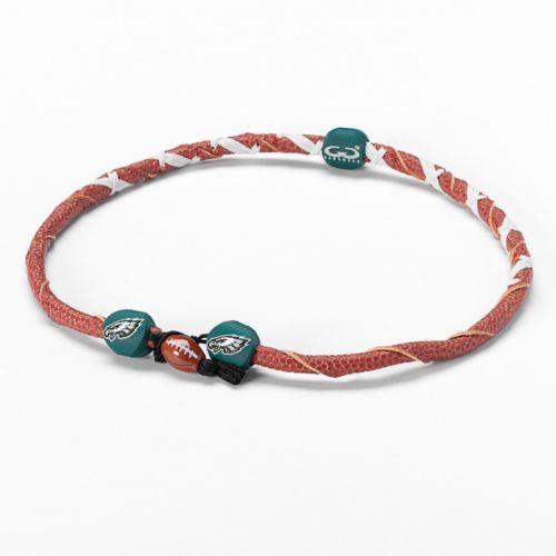 Spiral Philadelphia Eagles Leather Football Necklace