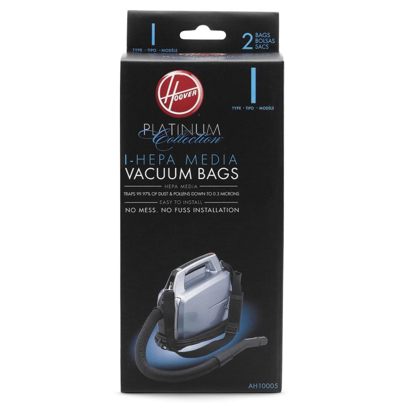 Hoover Platinum Collection I-Hepa Vacuum Bags - 2-pk, Black