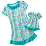 Jumping Beans Floral Nightgown - Girls 4-7