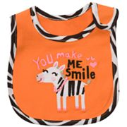 Carter's You Make Me Smile Zebra Teething Bib