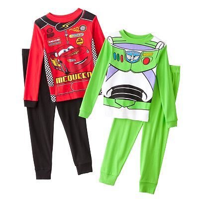 Buzz Lightyear and Lightning McQueen 4-pc. Pajama Set - Boys 4-8