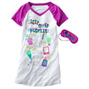 SO Sleepover Checklist Sleepshirt - Girls 7-16