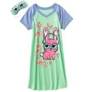 SO Hip Hop Bunny Raglan Sleepshirt - Girls 7-16
