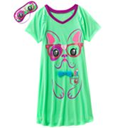 SO Dog Raglan Neon Sleepshirt - Girls 7-16
