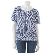 Cathy Daniels Animal Burnout Banded-Bottom Top