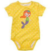 Carter's Dotted Mermaid Bodysuit - Baby
