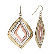 SONOMA life + style Tri-Tone Kite Earrings